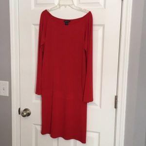 Moda red bell sleeve mini dress